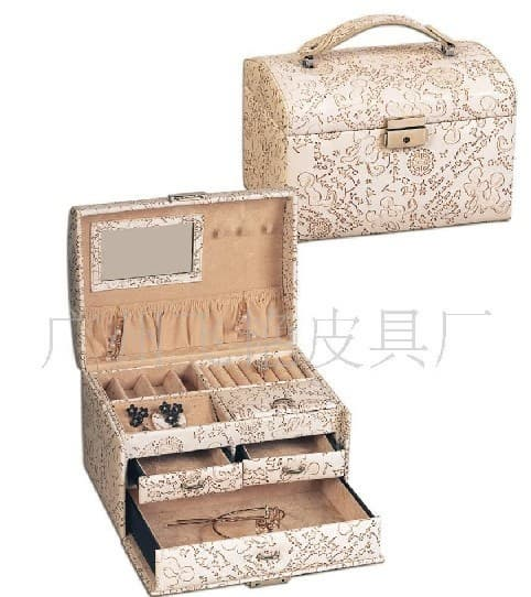 fashion beautiful jewelry box jewelry case cosmetic case from
