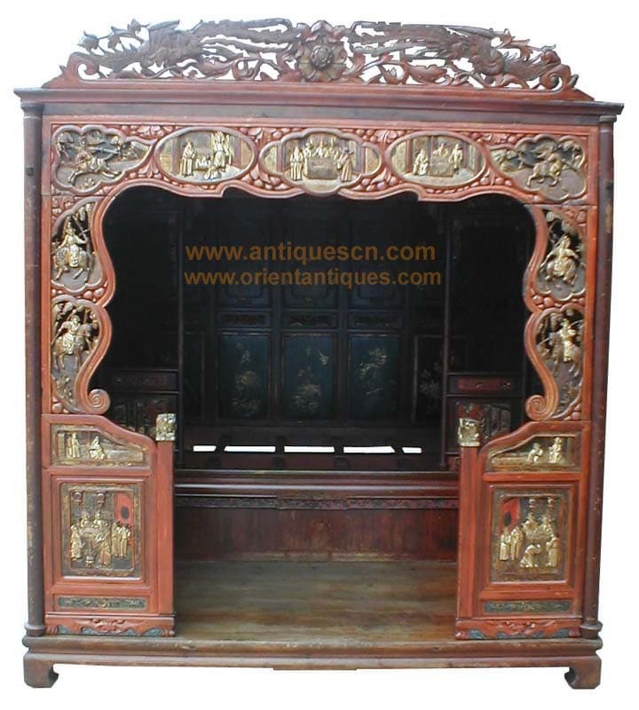 B 041p1a chinese furniture antique marriage room bed for Chinese furniture