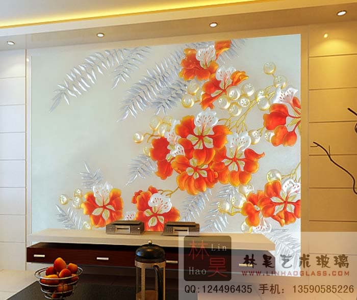 Engraved Glass Sculptured Glass Pillar Curtain Wall Glass