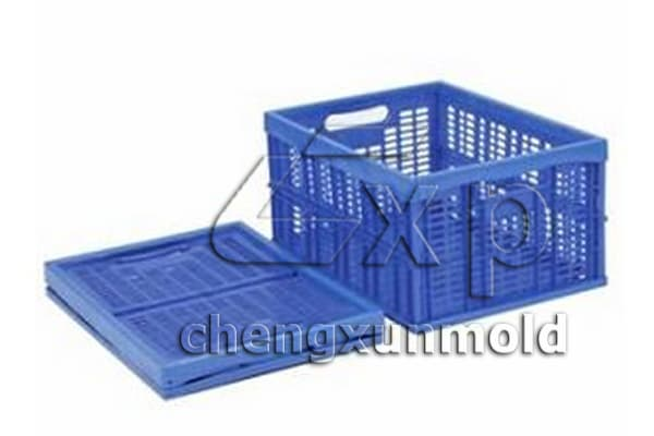 collapsible crate mould plastic stackable crates