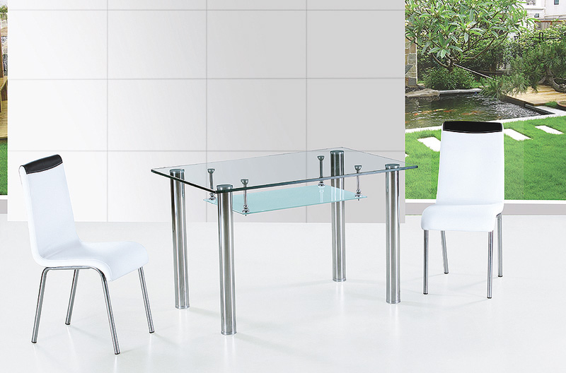 Dining table all glass dining table for All glass dining room table