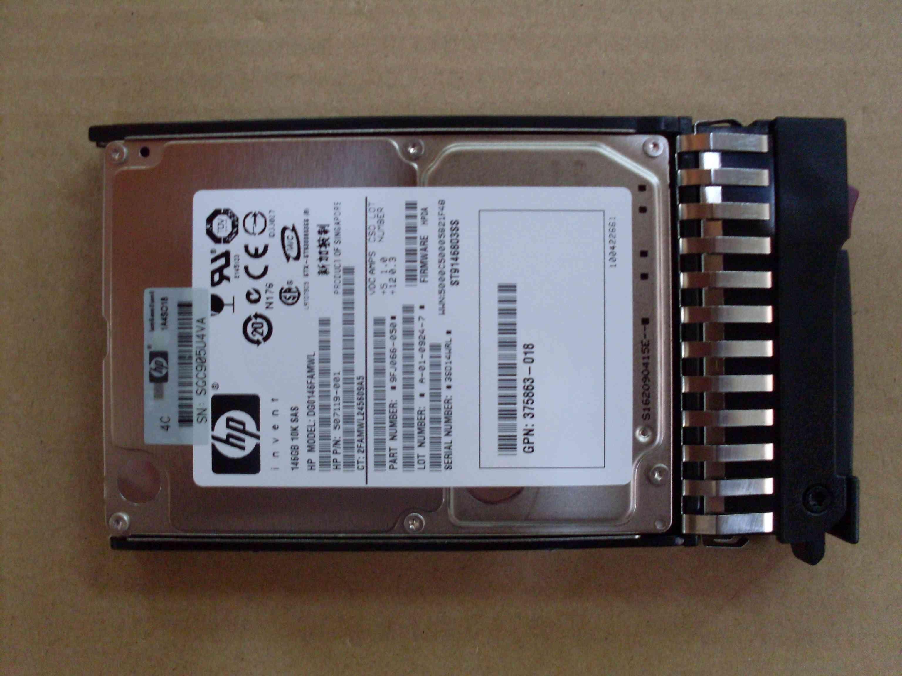 HP 417855-B21 HP 146GB 15K SAS 3.5 NHP DP Hard Drive