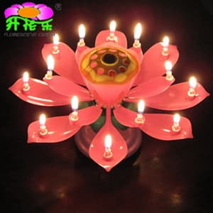 Excellent Double Deck Rotating Magic Birthday Candle