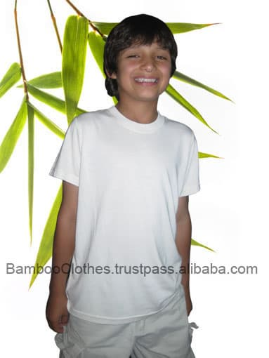 Bamboo fiber boy 39 s ss t from bamboo textile b2b for Bamboo fiber t shirt