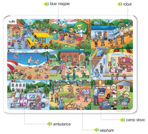 10 My First Talking Theme Mat For Kids Child Tradekorea