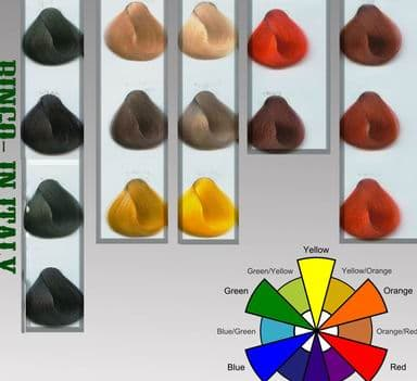 Red Brown Hair Color Chart. hair color swatch book