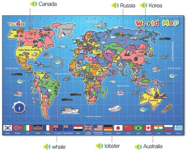 12 first talking world map for kids child from talk box product thumnail image product thumnail image zoom gumiabroncs Images