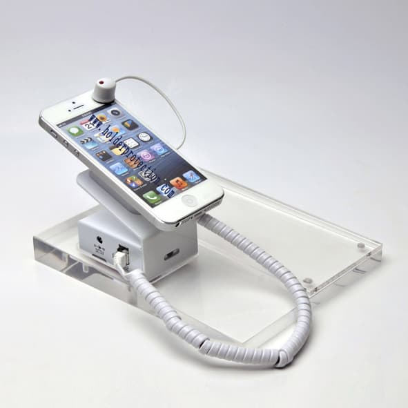 Security Cable Lock System : Magnetic mobile phone stand holder display system cable