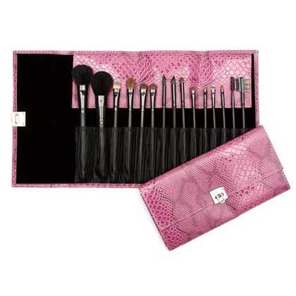 Sell Makeup on Wholesale 15pcs Makeup Brush Pink Snake Makeup Brush Sets Gift