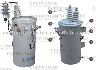 single phase pole mounted transformers immersed overhead distribution transformer csp type