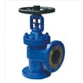 DIN angle type bellows seal globe valve