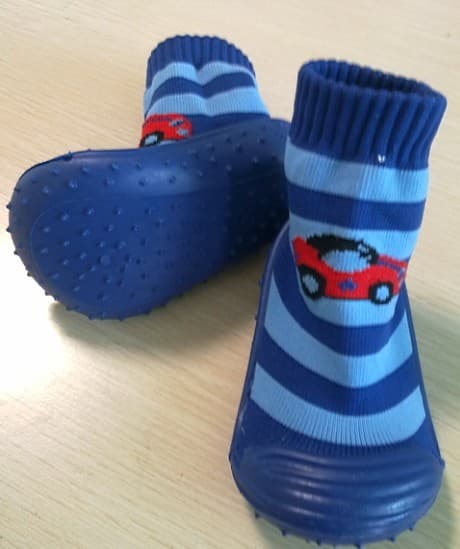 Baby Sock Shoes With Rubber Sole