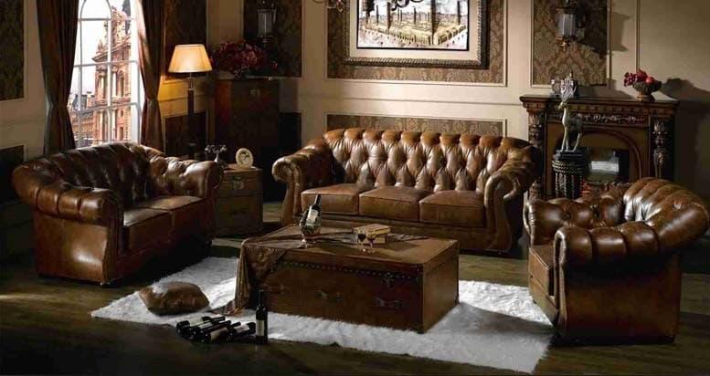 Luxury british leather sofa set  so 003