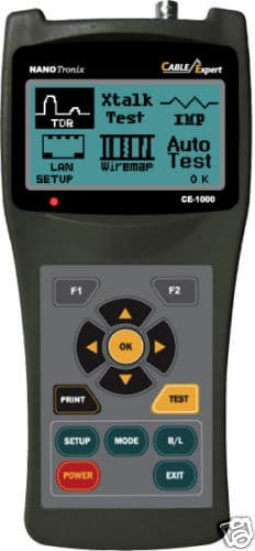 Cable Fault Locator On Line : Lan tester reflectometer cable fault locator ce
