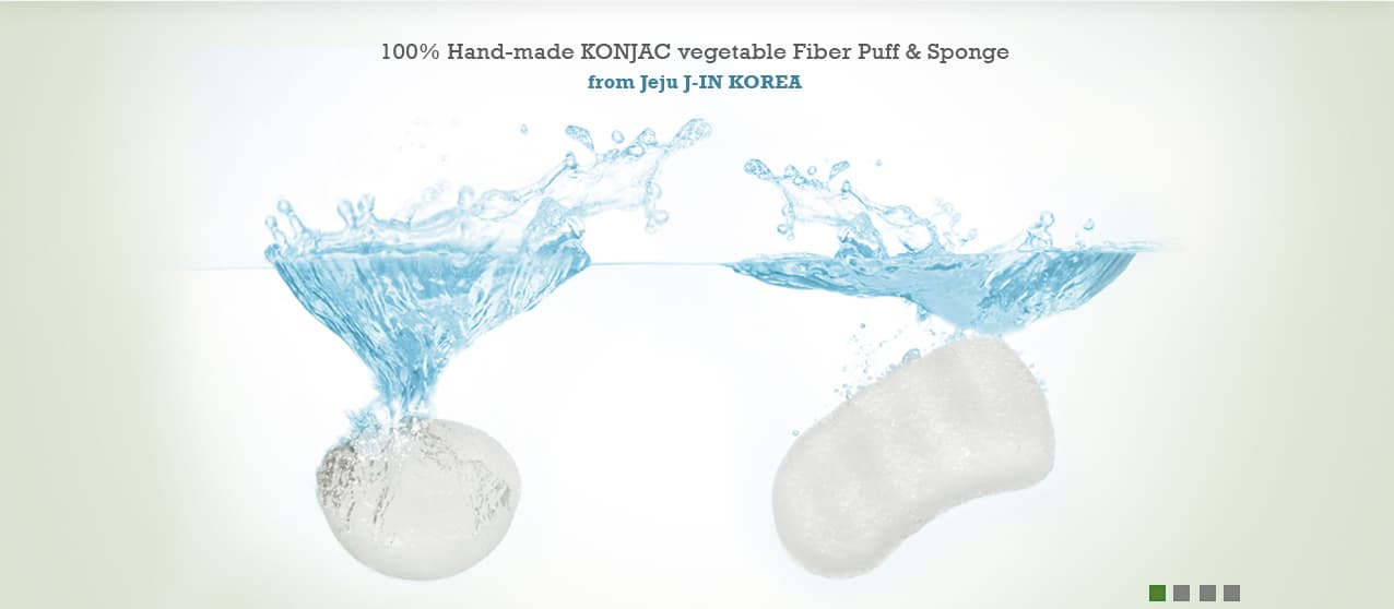 Genuine 100% Natural KONJAC Puff & Sponge from Jeju