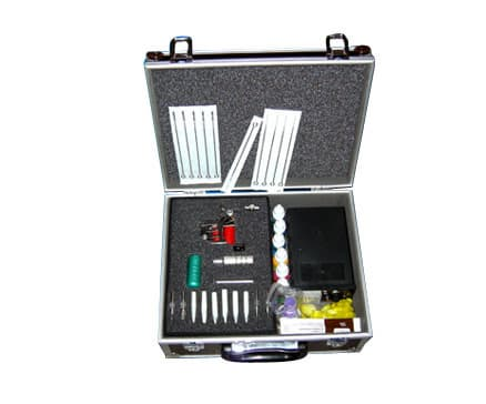 Complete Tattoo Kit 1 Machine Gun Power Ink Grip D30-26.