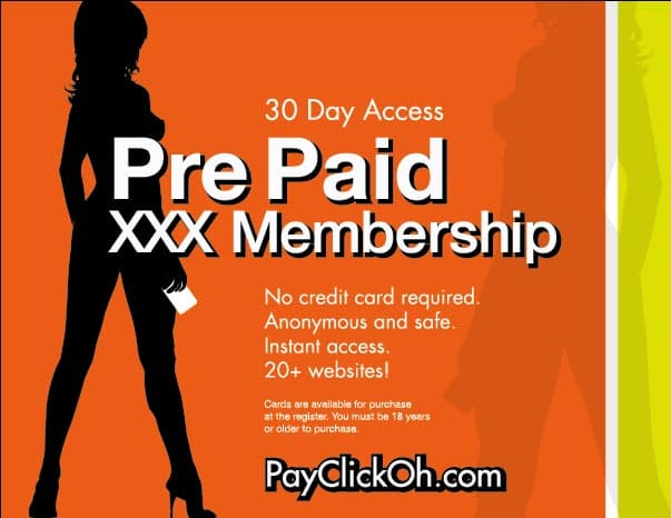 PayClickOh.com Prepaid Adult Entertainment Cards